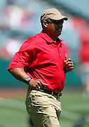 ANAHEIM, CA - AUGUST 24:  Reggie Jackson, formerly of the Los Angeles Angels of Anaheim, walks onto the field as the Angels honor past players before the game against the Minnesota Twins at Angel Stadium on August 24, 2008 in Anaheim, California. The Angels defeated the Twins 5-3. ©Paul Anthony Spinelli *** Local Caption *** Reggie Jackson