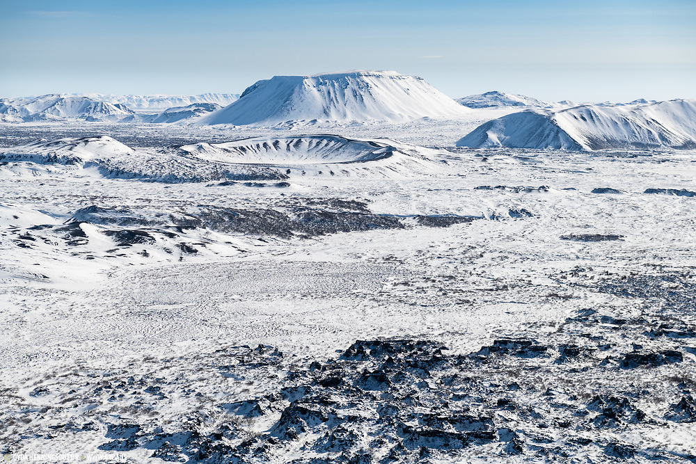 Hverfjall in north east iceland