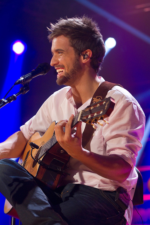 "Spanish idol Pablo Alborán, during the recording of his latest album ""En acústico"" (unplugged), at Ciudad de la Imagen, Madrid on July 6 and 7, 2011."