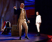 Our Country's Good <br /> by Timberlake Wertenbaker <br /> at the Olivier Theatre, National Theatre, Southbank, London, Great Britain <br /> press photocall <br /> 25th August 2015 <br /> <br /> Jason Hughes as 2nd Lieutenant Ralph Clark<br /> <br /> Paul Kaye as Midshipman Harry Brewer <br /> <br /> <br /> Photograph by Elliott Franks <br /> Image licensed to Elliott Franks Photography Services