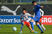 21.09.2017; Niederhasli; FUSSBALL U16 - Schweiz - Italien;<br /> Willy Vogt (SUI) Antonio Reda (ITA) <br /> (Andy Mueller/freshfocus)
