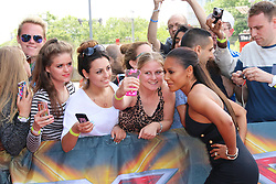 © Licensed to London News Pictures. 20/06/2014, UK.  Melanie Brown; Mel B, The X Factor - London auditions photocall, Emirates Stadium, London UK, 20 June 2014. Photo credit : Richard Goldschmidt/Piqtured/LNP