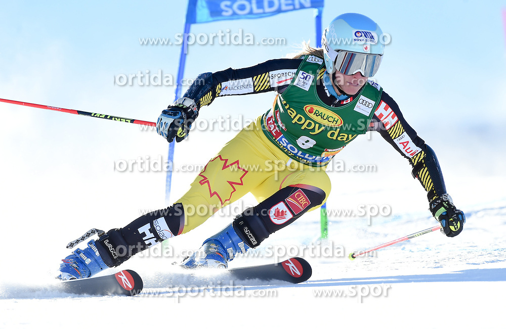 22.10.2016, Rettenbachferner, Soelden, AUT, FIS Weltcup Ski Alpin, Soelden, Riesenslalom, Damen, 1. Durchgang, im Bild Marie-Michele Gagnon of Canada // in action during 1st run of ladies Giant Slalom of the FIS Ski Alpine Worldcup opening at the Rettenbachferner in Soelden, Austria on 2016/10/22. EXPA Pictures © 2016, PhotoCredit: EXPA/ Erich Spiess