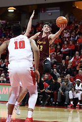 10 January 2018:  Clayton Custer on approach during a College mens basketball game between the Loyola Chicago Ramblers and Illinois State Redbirds in Redbird Arena, Normal IL