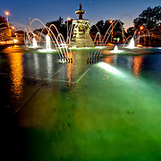 Sea Horse Fountain at Meyer Circle at Meyer Boulevard and Ward Parkway, Kansas City, Missouri.