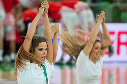Cheerleaders Dragon Ladies at friendly match between Croatia and Serbia for Adecco Cup 2011 as part of exhibition games before European Championship Lithuania on August 9, 2011, in SRC Stozice, Ljubljana, Slovenia. (Photo by Matic Klansek Velej / Sportida)