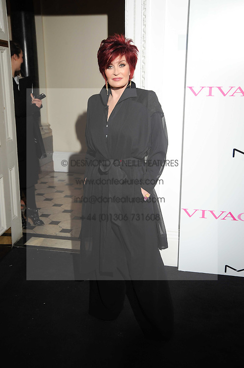 SHARON OSBOURNE at the MAC VIVA GLAM discussion hosted by Sharon Osbourne to promote MAC's latest fundraising range with all proceeds donated to HIV/AIDs charities via the MAC AIDS Fund, at Il Bottaccio, 9 Grosvenor Place, London on 1st March 2010.