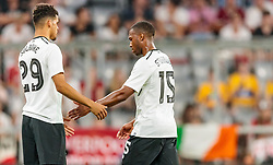 01.08.2017, Allianz Arena, Muenchen, GER, Audi Cup, FC Bayern Muenchen vs FC Liverpool, im Bild Dominic Solanke (FC Liverpool), Auswechslung Daniel Sturridge (FC Liverpool) // during the Audi Cup Match between FC Bayern Munich and FC Liverpool at the Allianz Arena, Munich, Germany on 2017/08/01. EXPA Pictures © 2017, PhotoCredit: EXPA/ JFK