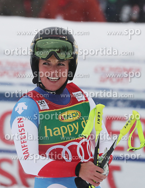 04.12.2016, Lake Louise, USA, FIS Weltcup Ski Alpin, Lake Louise, Super G, Damen, im Bild Lara Gut (SUI, 1. Platz) // race winner Lara Gut of Switzerland reacts after her run of the women's SuperG of the Lake Louise FIS Ski Alpine World Cup at the Lake Louise, United Staates on 2016/12/04. EXPA Pictures &copy; 2016, PhotoCredit: EXPA/ SM<br /> <br /> *****ATTENTION - OUT of GER*****