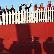 Ryder Cup 2016. Day Two. Spectators during the Ryder Cup at the Hazeltine National Golf Club on October 01, 2016 in Chaska, Minnesota.  (Photo by Tim Clayton/Corbis via Getty Images)