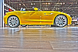 08 February 2012: 2012 BMW Z4 ROADSTER: The classic roadster is back  more powerful and more stylish than ever before, and on display at the 104th Annual Chicago Auto Show. If you guessed the 2012 BMW Z4, youre correct. Notably, it is the only car in its segment that combines classic roadster proportions with a seating position near the rear axle, rear-wheel drive, and a retractable hardtop. Starting this model year, the BMW Z4 is offered in the US with one newly introduced 2.0-liter turbo four-cylinder in the Z4 sDrive28i that delivers 335 horsepower and 332 lb. ft. of torque. To ensure truly outstanding acceleration and response at all times, there are two versions of the twin-turbo 3.0L inline six-cylinder engines  300hp/300lb.ft in the Z4 sDrive35i and 335hp/332lb.ft. of torque in the sDrive35is. Depending on the powerplant, a six-speed manual gearbox and seven- or eight-speed automatic transmissions are to be had. All Z4 models enjoy a two-place cockpit and power-retractable hardtop standard. Minor tweaks for 2012 include making the automatic transmission a no-charge option on the 30i, and the Double Clutch Transmission price has been lowered on the 35i. Chicago Auto Show, Chicago Automobile Trade Association (CATA), McCormick Place, Chicago Illinois This image was produced in part utilizing High Dynamic Range (HDR) or panoramic stitching or other computer software manipulation processes. It should not be used editorially without being listed as an illustration or with a disclaimer. It may or may not be an accurate representation of the scene as originally photographed and the finished image is the creation of the photographer.