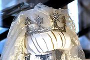 Perspreview 50 jaar Koninklijk Paleis Amsterdam.<br /> <br /> Op de foto:  Tiara van Maxima tijdens haar bruiloft met diamanten uit koningin Emma's tiara en met de basis van de Tiara van Beatrix toen ze als koningin werd ingewijd.