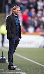 Hearts Head Coach Robbie Neilson. <br /> Alloa Athletic 0 v 1 Hearts, Scottish Championship played at Recreation Park, Alloa.