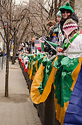 March 17, 2015 - New York, NY. Reviewing stand along Fifth Avenue at the  St. Patrick's Day Parade. 04/17/2013 Photograph by Kevin R. Convey/NYCity Photo Wire
