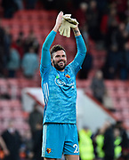 Ben Foster (26) of Watford celebrates the 3-0 win at full time during the Premier League match between Bournemouth and Watford at the Vitality Stadium, Bournemouth, England on 12 January 2020.