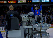 KELOWNA, CANADA - OCTOBER 22:  Orchard Park Zamboni Rider at the Kelowna Rockets game on October 22, 2017 at Prospera Place in Kelowna, British Columbia, Canada.  (Photo By Cindy Rogers/Nyasa Photography,  *** Local Caption ***