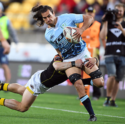 Northland's Kara Pryor tackled by Wellington's Wes Goosen in the Mitre 10 Semi Final Rugby match at Westpac Stadium, Wellington, New Zealand, Friday, October 20, 2017. Credit:SNPA / Ross Setford  **NO ARCHIVING**