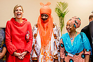 2-11-2017 ABUJA NIGERIA  Ontmoeting met de Mallam Muhammad Sanusi Emir van de deelstaat Kano Koningin Maxima  speech tijdens bezoek aan EFInA (Enhancing Financial Innovation &amp; Access) evenement &lsquo;The Role of Government in driving Financial Inclusion in 