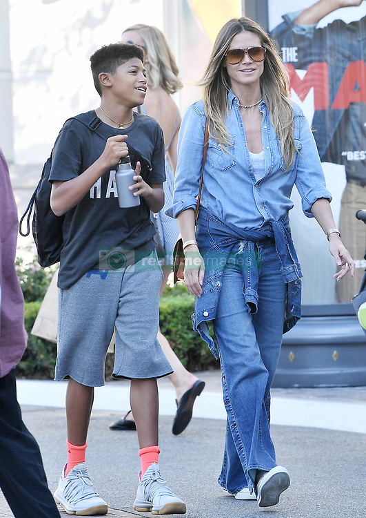 Heidi Klum takes her kids to the candy store after shopping for shoes at The Grove in West Hollywood Sunday. Heidi shopped with her kids at the Nike store, Nordstrom's, and Michael Kors before hitting Dylan's Candy Bar at the popular outdoor shopping mall in Los Angeles. 15 Oct 2017 Pictured: Heidi Klum. Photo credit: GAC / MEGA TheMegaAgency.com +1 888 505 6342