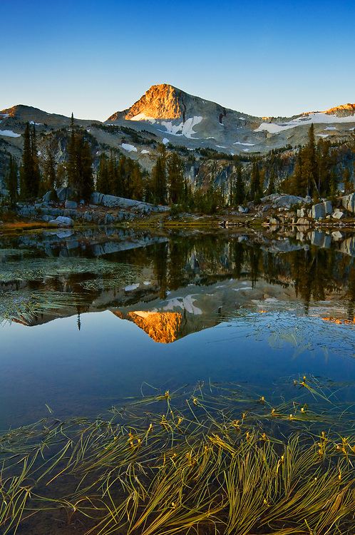 Eagle Cap mountain from Sunshine Lake, Eagle Cap Wilderness, Wallowa Mountains, northeastern Oregon.