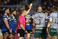 Ben Franks of Northampton Saints is shown a yellow card by referee Ian Tempest - Mandatory byline: Patrick Khachfe/JMP - 07966 386802 - 09/11/2019 - RUGBY UNION - The Recreation Ground - Bath, England - Bath Rugby v Northampton Saints - Gallagher Premiership
