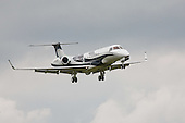 Legacy 600 G-RUBE Arrival at Oxford Airport