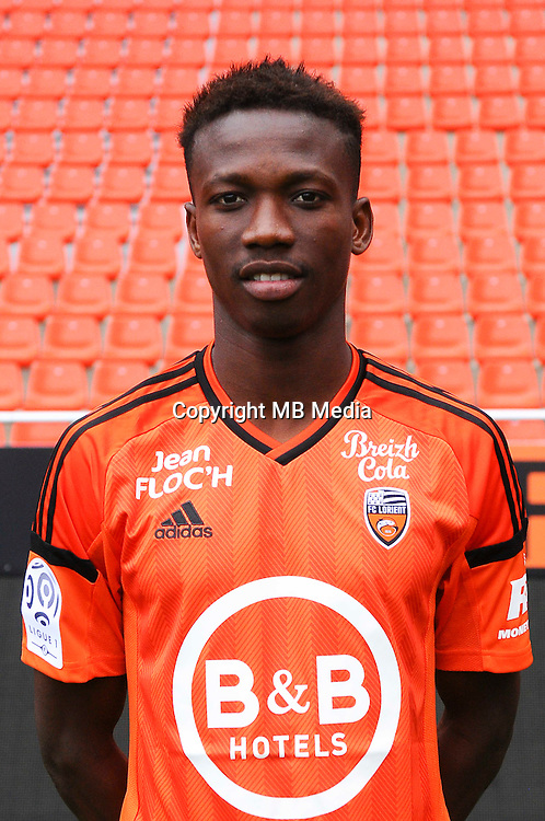 Mohamed Mara during the Fc Lorient photocall for the season 2016/2017 in Lorient on September 16th 2016<br /> Photo : Philippe Le Brech / Icon Sport