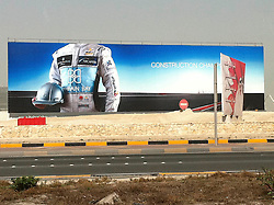 © under license to London News Pictures. 22/02/2011. A billboard in Bahrain advertising Bahrain Bay incorporating Formula 1. Photo credit should read Michael Graae/London News Pictures