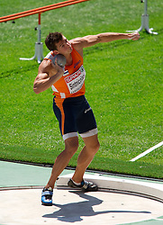 Mihail Dudas of Serbia competes in the Mens Decathlon Shot Put during day two of the 20th European Athletics Championships at the Olympic Stadium on July 28, 2010 in Barcelona, Spain. (Photo by Vid Ponikvar / Sportida)