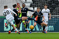 Football - 2018 / 2019 Sky Bet EFL Championship - Swansea City vs. Millwall<br /> <br /> George Byers of Swansea City shoots just prior to scoring scores his team's only goal, at The Liberty Stadium.<br /> <br /> COLORSPORT/WINSTON BYNORTH
