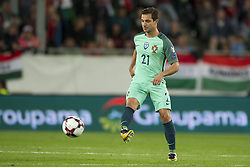 September 3, 2017 - Budapest, Hungary - Cedric of Portugal kicks the ball during the FIFA World Cup 2018 Qualifying Round match between Hungary and Portugal at Groupama Arena in Budapest, Hungary on September 3, 2017  (Credit Image: © Andrew Surma/NurPhoto via ZUMA Press)