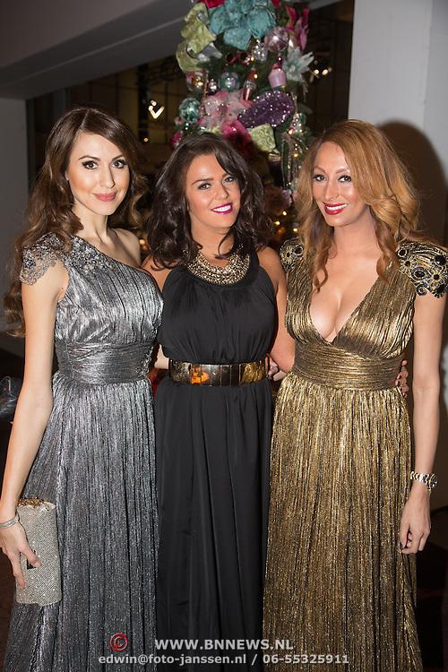 NLD/Amsterdam /20131212 - Vipnight Master of LXRY 2013 opening, tamara Elbaz, Laura Ponticorvo en Maria Tailor