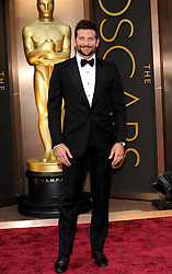 Bradley Cooper arriving to the 2014 Oscars at the Hollywood and Highland Center in Hollywood, California, USA,  Sunday, 2nd March 2014. Picture by Hollywood Bubbles / i-Images<br /> UK ONLY