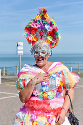 A flamboyant Tina from Canterbury dressed to impress at the Kent Pride celebrations in the seaside town of Margate.