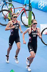 20.08.2016, Fort Copacabana, Rio de Janeiro, BRA, Rio 2016, Olympische Sommerspiele, Triathlon, Damen, im Bild Vicky Holland (GBR), Non Stanford (GBR) // Vicky Holland of United Kingdom Non Stanford of United Kingdom during the Womens Triathlon of the Rio 2016 Olympic Summer Games at the Fort Copacabana in Rio de Janeiro, Brazil on 2016/08/20. EXPA Pictures © 2016, PhotoCredit: EXPA/ Johann Groder