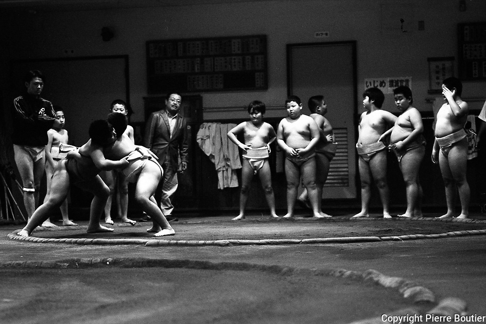 Sumo school , training and tournament for kids, in Tokyo