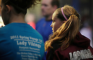 Chester, New York - A girl listens during a clinic on hitting at the first anniversary open house celebration at The Rock Sports Park on Nov. 12, 2011.