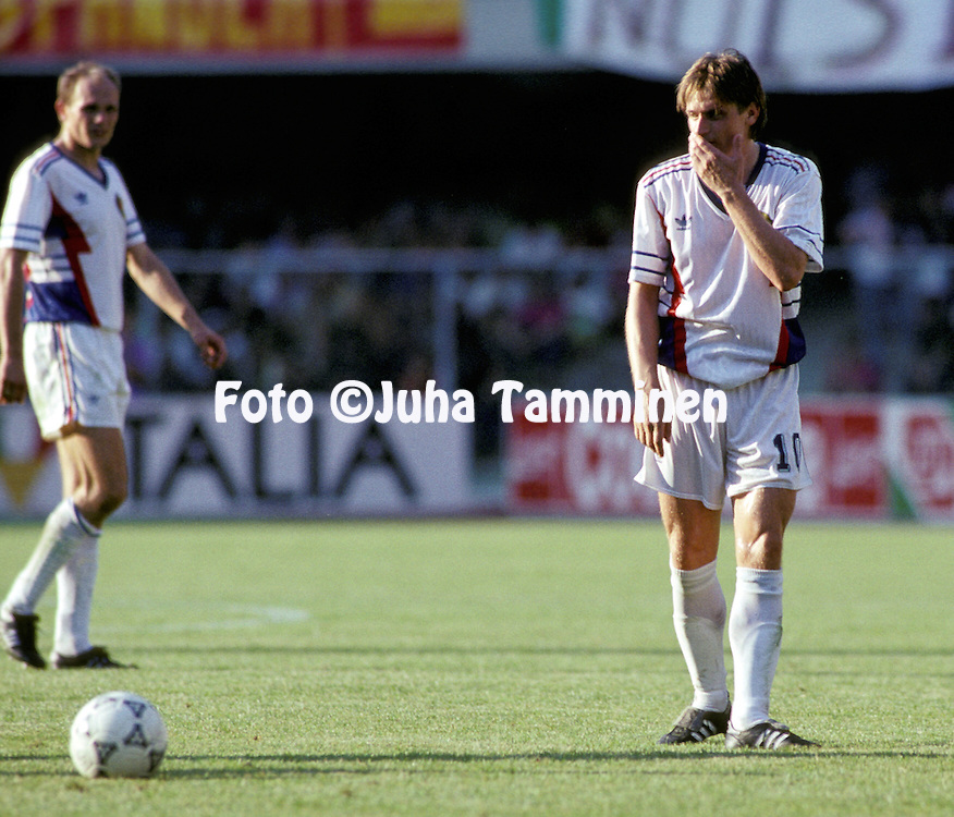 FIFA World Cup - Italia 1990.Dragan Stojkovic - Yugoslavia.©JUHA TAMMINEN