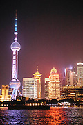Views of Pudong from The Bund at night