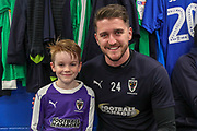AFC Wimbledon goalkeeper Joe McDonnell (24), Mascot during the EFL Sky Bet League 1 match between AFC Wimbledon and Fleetwood Town at the Cherry Red Records Stadium, Kingston, England on 22 January 2019.