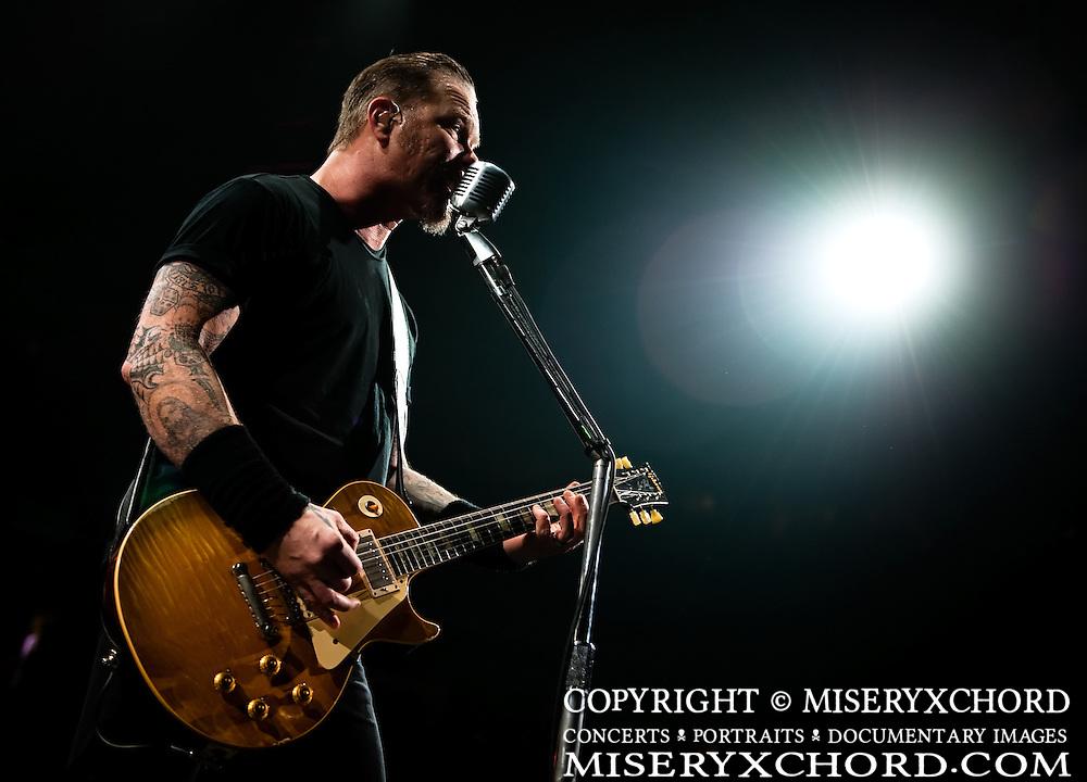 Metallica closes their Fall 2009 US tour at HP Pavillion in San Jose California USA on December 12 2009
