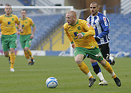 Sheffield - Sunday November 29th, 2008: Marcus Tudgay of Sheffield Wednesday and Matthew Pattison of Norwich City during the Coca Cola Championship match at Hillsborough, Sheffield. (Pic by Michael Sedgwick/Focus Images)