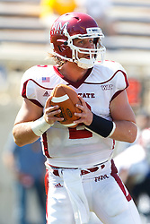 September 24, 2011; San Jose, CA, USA;  New Mexico State Aggies quarterback Matt Christian (2) stands in the pocket against the San Jose State Spartans during the first quarter at Spartan Stadium.