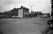 09/02/1963<br /> 02/09/1963<br /> 09 February 1963<br /> Views of Mount Merrion Service Station for Esso on the Merrion Road, Dublin. (Now a car dealership).  J. Tracey grocer on left.