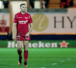 Scarlets' Tom Prydie<br /> <br /> Photographer Simon King/Replay Images<br /> <br /> European Rugby Champions Cup Round 6 - Scarlets v Toulon - Saturday 20th January 2018 - Parc Y Scarlets - Llanelli<br /> <br /> World Copyright © Replay Images . All rights reserved. info@replayimages.co.uk - http://replayimages.co.uk