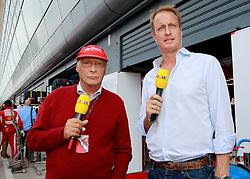 Motorsports / Formula 1: World Championship 2010, GP of Italy, Nikki Lauda, Florian Koenig (GER, RTL)