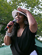 Luci Martin performs as SummerStage presents Club Classics Live at Rumsey Playfield in Central Park in New York City, New York on June 28, 2014.