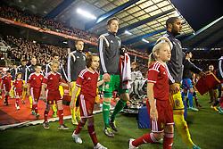 BRUSSELS, BELGIUM - Sunday, November 16, 2014: Wales' goalkeeper Wayne Hennessey walks out to face Belgium during the UEFA Euro 2016 Qualifying Group B game at the King Baudouin [Heysel] Stadium. (Pic by David Rawcliffe/Propaganda)