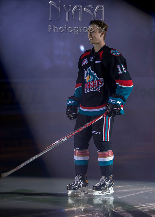 KELOWNA, CANADA - SEPTEMBER 22:  Kole Lind #16 of the Kelowna Rockets on September 22, 2017 at Prospera Place in Kelowna, British Columbia, Canada.  (Photo By Cindy Rogers/Nyasa Photography,  *** Local Caption ***