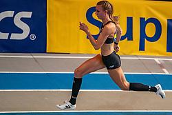 Femke Bol second on the 400 meters during the Dutch Indoor Athletics Championship on February 23, 2020 in Omnisport De Voorwaarts, Apeldoorn